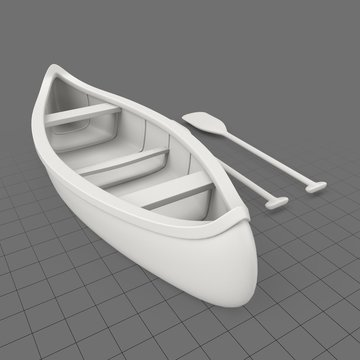 Canoe with paddles