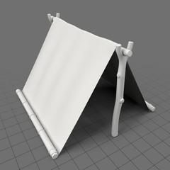 Makeshift tent