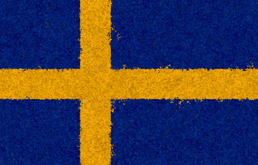 Illustraion of Swedish Flag