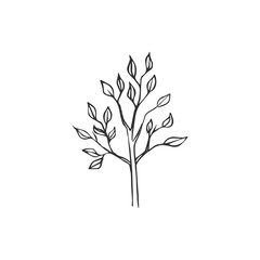simple tree icon isolated on white background, vector illustration