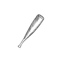 baseball bat isolated on white background, vector illustration