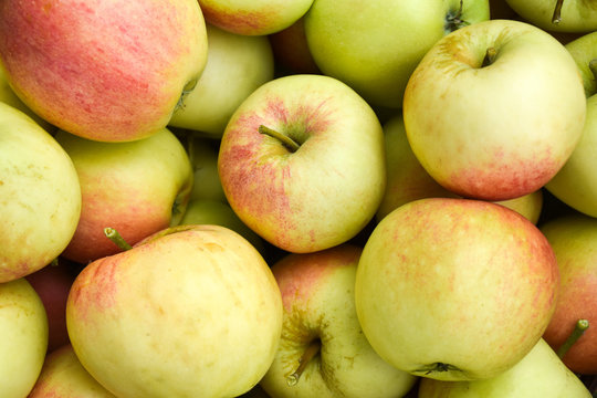 Bunch of red and yellow apples
