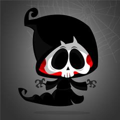 Cute cartoon grim reaper cartoon clipart