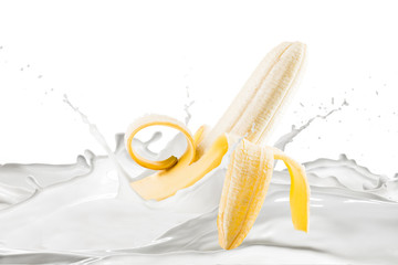 Banana With Milk Splash