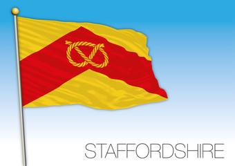 Staffordshire county flag, United Kingdom, vector illustration