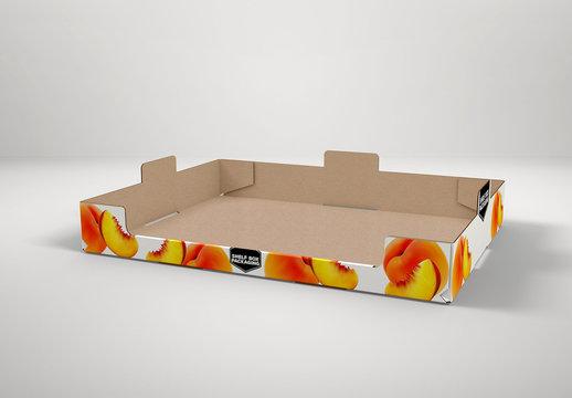 Cardboard Shelf Box Mockup