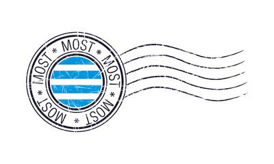 Most city grunge postal rubber stamp