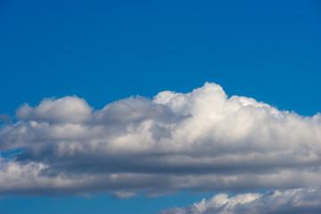 Summer clouds, blue sky
