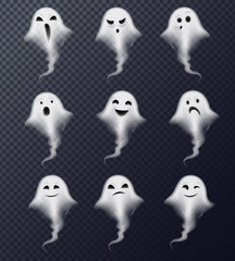 Ghost Realistic Set Transparent
