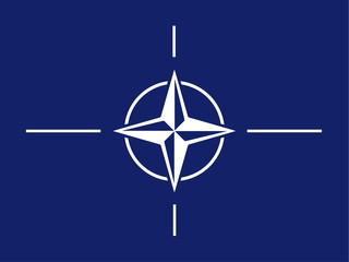 North Atlantic Treaty Organization (NATO) flag isolated vector