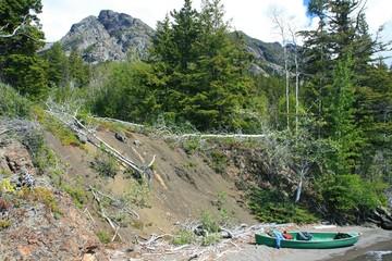 Verlorenes Kanu in Kanada