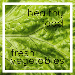 Food concept, healthy vegetable with many vitamins. Macro image, close-up view