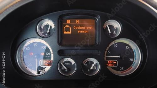 DAF XF Truck Interior Dashboard  Close shot  Start engine