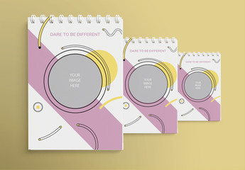 Notebook Layout With Pastel Shapes