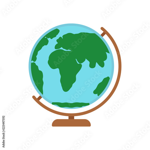 The Globe Spherical Map Of Earth On Stand Stock Image And Royalty
