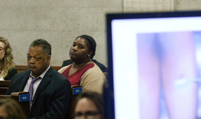 Rev. Jesse Jackson attends the trial for the shooting death of Laquan McDonald by Chicago police officer Jason Van Dyke, at the Leighton Criminal Court Building in Chicago