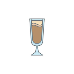 cold coffee colored icon. Element of colored coffee icon for mobile concept and web apps. Color cold coffee icon can be used for web and mobile