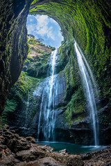 Printed roller blinds Waterfalls Madakaripura Waterfall is the tallest waterfall in Deep Forest in East Java, Indonesia.