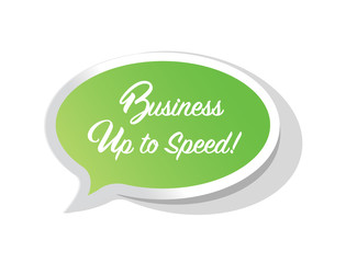 Business up to speed bright message bubble