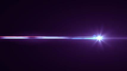 Purple lens flare light
