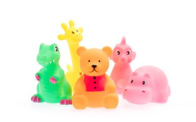 Plastic Toy Animal isolated on white background