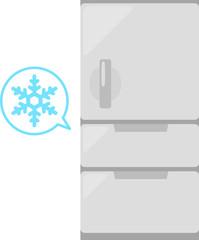 冷蔵庫と雪のマーク