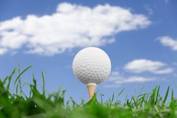 Golf Ball in grass background