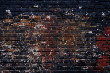 Poster Brick wall Grunge brick wall background