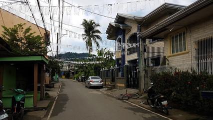 An empty street in Santa Rosa village