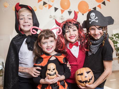 kids in Halloween party