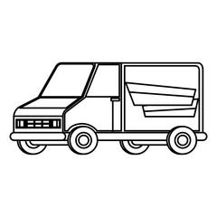 delivery service van vehicle