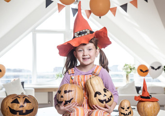 Little girl  in Halloween party