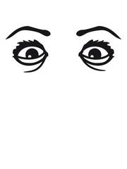 augen verrückt crazy wahnsinnig girl mädchen weiblich cool gesicht heiß frau weiblich design sexy lippen mund gesund comic cartoon clipart