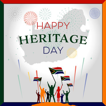 25 September South africa heritage day vector illustration