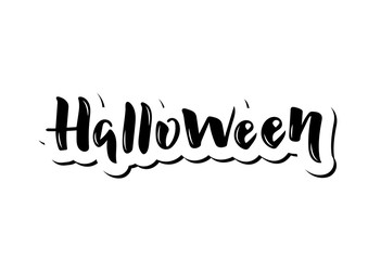 Hand drawn lettering phrase Halloween
