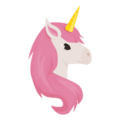 Unicorn cute vector animal character illustration fantasy magic design rainbow horse beautiful fairytale background.