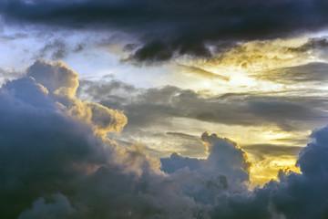 Scenic cloud sunset sky background, Nature composition cloudscape.