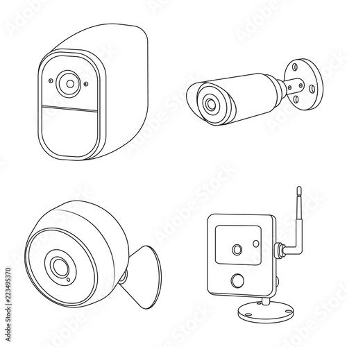 vector design of cctv and camera logo collection of cctv and system Web Camera London England vector design of cctv and camera logo collection of cctv and system stock symbol for