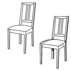 sketch chair on white background