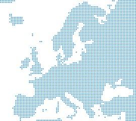 Europakarte aus blauen Punkten