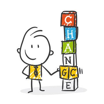 Strichfiguren / Strichmännchen: Coaching, Change, Chance. (Nr. 306)