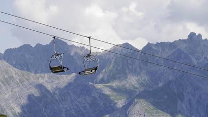 Alpenlandschaft Sommer Sessellist