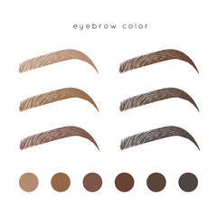 How to make up eyebrow. Brow color