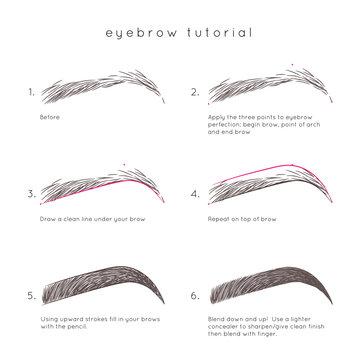 Eyebrow Tutorial. How to make up eyebrow