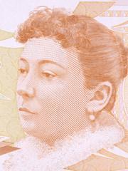 Fatma Aliye Topuz portrait from Turkish money