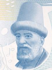 Buhurizade Mustafa Itri portrait from Turkish money