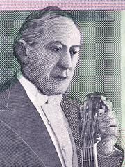 Agustín Barrios portrait from Paraguayan money