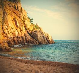 Tossa de Mar, Catalonia, Spain,, a small beach near Cap de Tossa