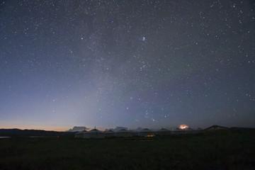 モンゴルのツーリストキャンプから見る星空