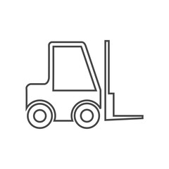 Forklift line icon